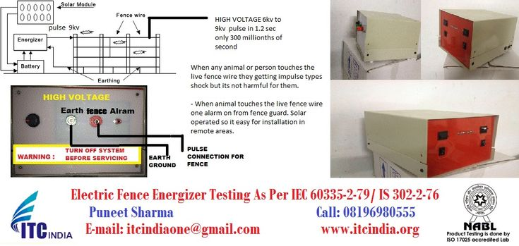 Electric Fence Energizer Testing As per IEC 60335-2-79/ IS 302-2-76 If you are looking for Electric Fence Energizer Testing service in India, ITCIndia one of the best Electrical Safety Testing Labo…