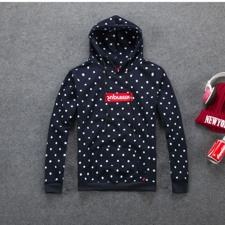 [Tide brand] 2015 New Polka Dot Men Hooded Sweatshirts Suprem hoodie hip hop man Outdoor sport hoody Coat Hoodies & Sweatshirts-in Hoodies & Sweatshirts from Men's Clothing & Accessories on Aliexpress.com | Alibaba Group