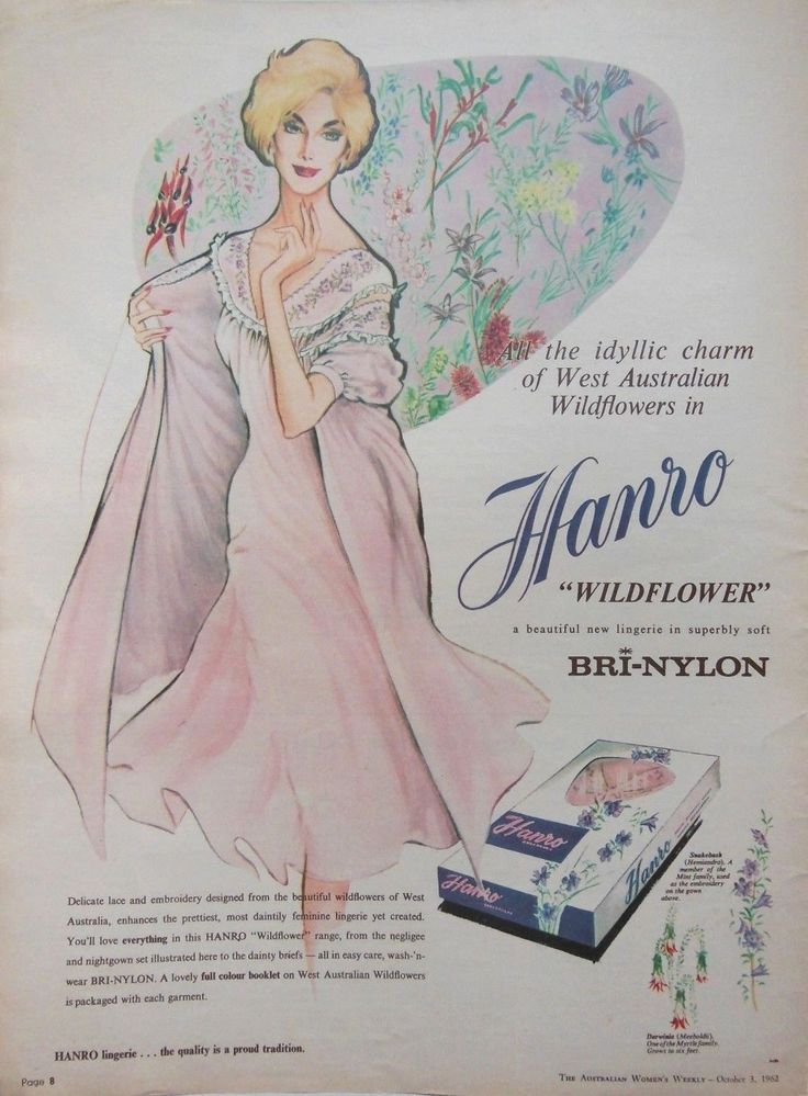 Hanro Retro Womens Lingerie AD 1962 Original Vintage Australian Advertising | eBay