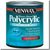"""Polycrylic claims to be a """"protective topcoat which resists damage from abrasion, scuffing, chipping, and water"""" AND does NOT turn yellow over time (as Polyurethane does)."""