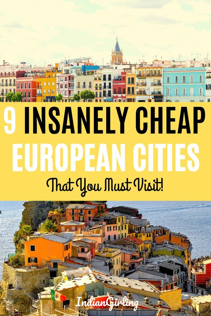 9 Cheapest European Cities That You Can Visit For Less Than 50 A Day Cheap European Cities Travel Europe Cheap Europe Destinations