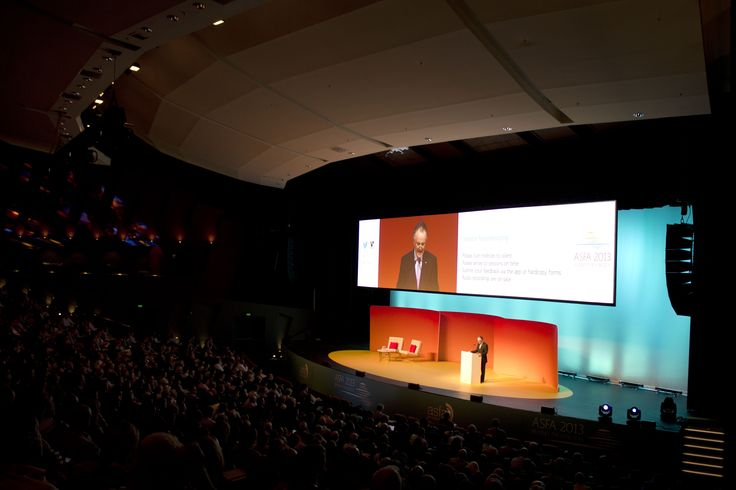 Stage sets at a conference create a real wow factor as delegates walk in