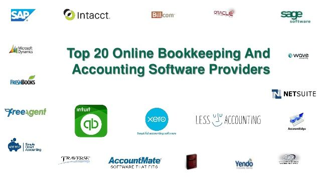 Top 20 online bookkeeping and accounting software