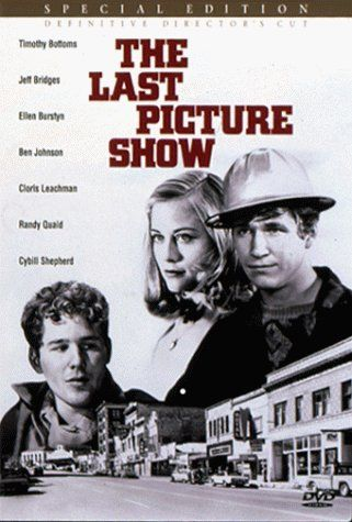 "The Last Picture Show (1971) dir. by Peter Bogdanovich. A group of 50's high schoolers come of age in a bleak, isolated, atrophied West Texas town that is slowly dying, both economically and culturally. ""Anarene, Texas. Nothing much has changed..."""