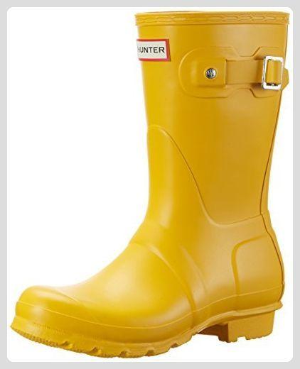 Hunter Damen Original Short Wellington Boots Gummistiefel, Gelb (Yellow), 40/41 EU - Stiefel für frauen (*Partner-Link)