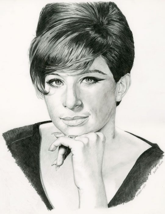 Finally finished this one!  It's a experiment, working with pencil on Dura-Lar film.  Barbra. Pencil on Dura-Lar film. ca. 24 x 30 cm. www.realistischekunst.com