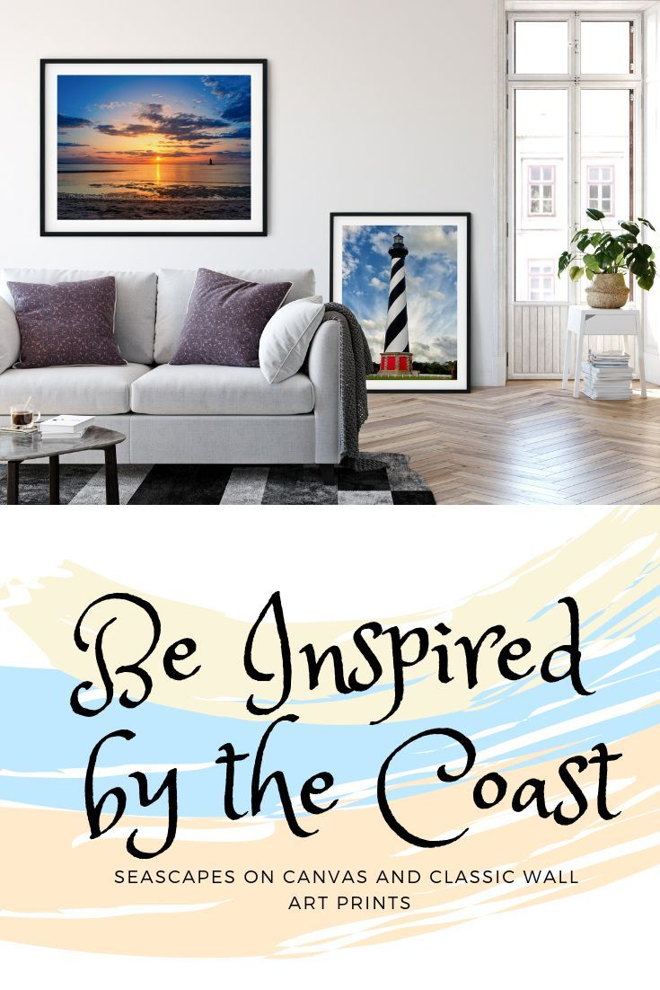 be inspired by the coast seascapes on canvas and classic wall art rh pinterest com