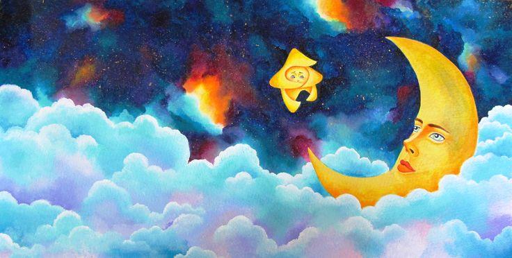 Sofia Filea www.facebook.com/sofiafileasart illustration, christmas, star, bethlehem start, jesus birth, moon, universe