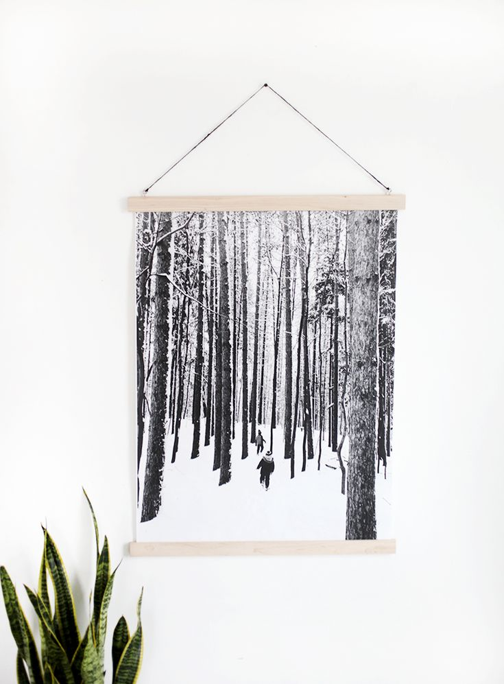 DIY Magnetic Poster Rails | The Merrythought