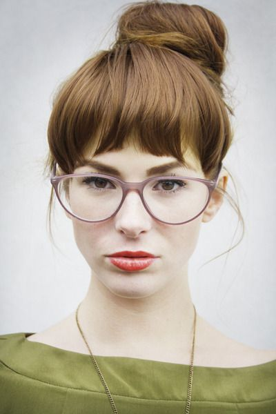 I really want these glasses - oversize, geek, slight cat eye, pale plastic