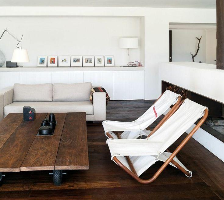 sillones cómodos en el salón con diseño escandinavo