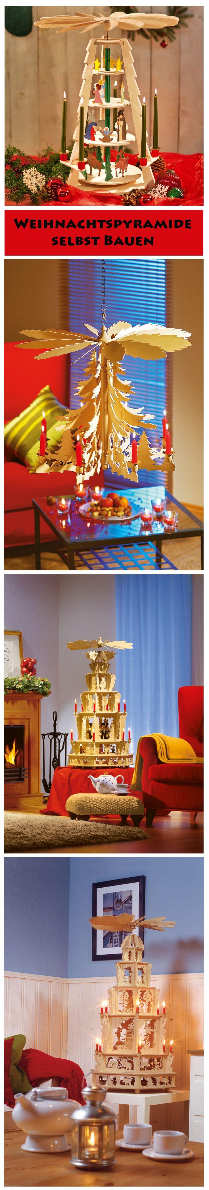 Wer kennt sie nicht: Die Weihnachtspyramiden! Die Kerzen lassen die Figuren in der Pyramide tanzen und sorgen gleichzeitig für ein romantisch flackerndes Licht an Wänden und Decke. Eine solche Pyramide kannst du dir selbst bauen – mit unseren Bauanleitungen.