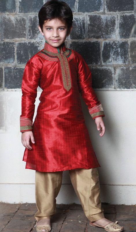 Poly Dupion Stripe Kurta Pathani. Poly Dupion Stripe Kurta Pathani.Keep Ahead In Fashion Race With This Readymade Kurta Pathani. #KidsKurtaPathaniStyle #ChildrenTraditionalSherwani
