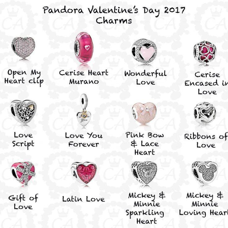 pandora valentines day 2017 charms