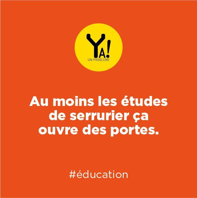 Ya un problème ! #education