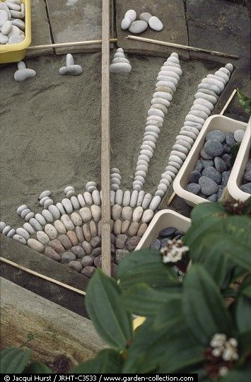 www.finegardening... Pebble Mosaic Art Process of making a detailed stone pebble walkway path garden - Gardening Choice Org