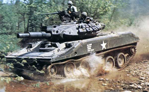 Development of the M551 Sheridan began in 1959. It's program was known as the AR/AAV or Armored Reconnaissance / Airborne Assault Vehicle. First prototypes were built in 1962 and production commenced in 1966. Vehicle is named in honor to Civil War General Philip Sheridan.