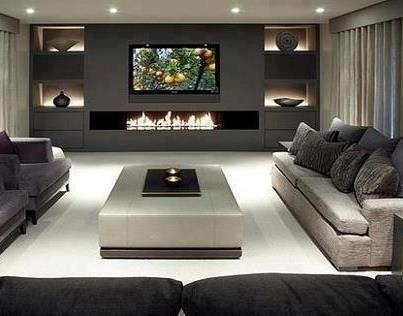Love the fire place! Very modern!