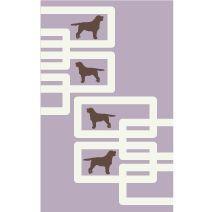 dog wool rug by www.avalisa.com