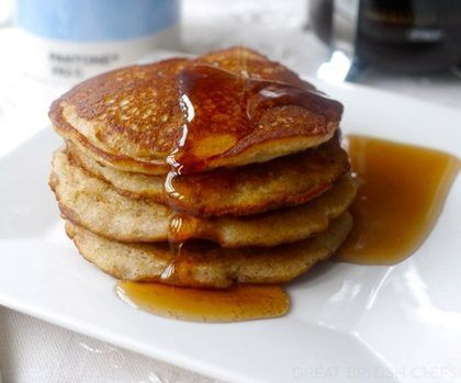 Gluten Free Banana Pancakes by @Victoria Brown Brown Glass - HAPPY PANCAKE DAY!