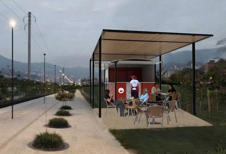 Nueva propuesta, módulos comerciales para espacios públicos.