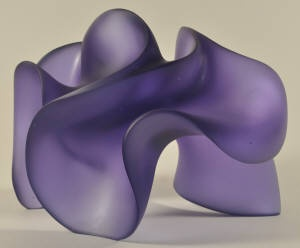 Harry Pollitt: Shapeshifter, Cast glass (colour - hyacinth) This links to his website, with images of the wax in process.