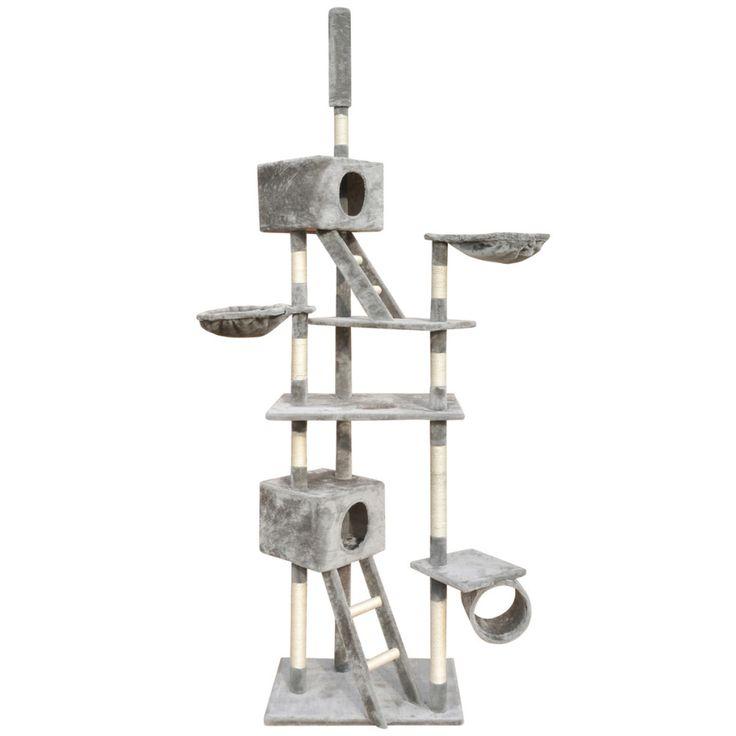 Cat Tree Scratching Post Grey Kitten Pet Scratcher Bed Activity Tower Climb