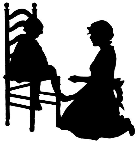 Love The Mother Child Silhouette: 84 Best Public Domain Images Images On Pinterest