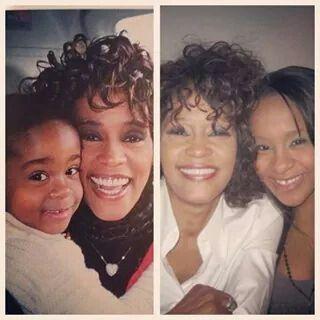 Whitney w/her loving daughter, Bobbie Kristina Brown ...