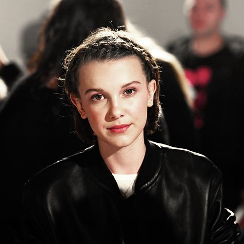 Millie Bobby Brown at the Calvin Klein Fashion Show in NYC.