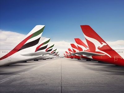 Emirates and Qantas. Interesting new combination. Perhaps an interesting option for future flights to Hong Kong from AMS or FRA?