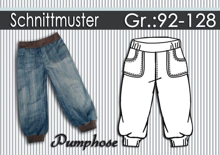 Ebook+Schnittmuster+Anleitung+Pumphose+GR:92-128+von+Schnipp-Schnapp+auf+DaWanda.com