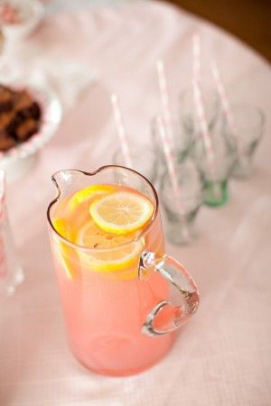 Pink Lemonade...originally posted as a first birthday party idea but it's pretty cute no matter what the occasion.