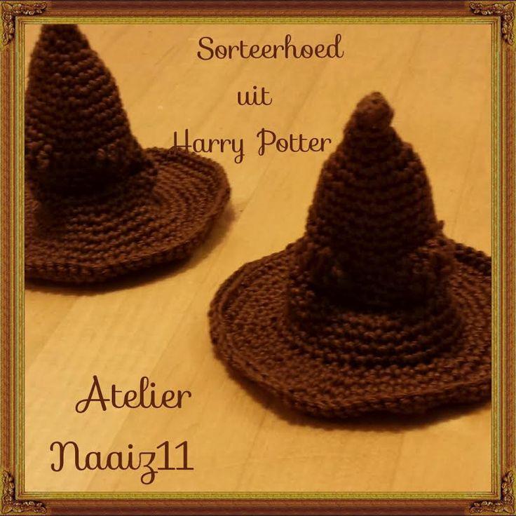 Sorteerhoed uit Harry potter. Patroontje komt van http://www.madebymriek.nl/2015/09/harry-potters-sorteerhoed.html
