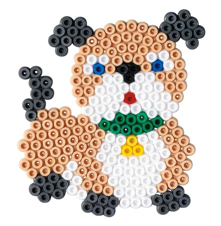 Dog Hama beads (round pegboard) - HAMA 4025