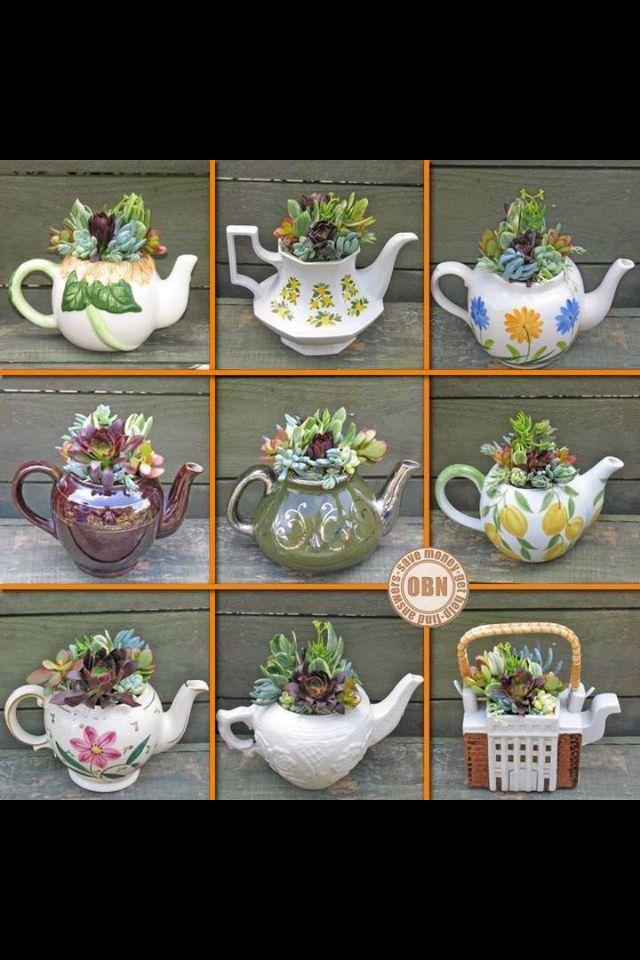 projects idea unique tea cups. Lovely tea pots 111 best Tea cup Teapot Planters images on Pinterest  Floral