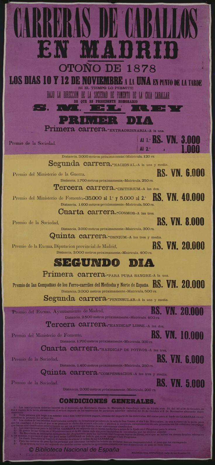 Carreras de caballos en Madrid. Sociedad de Fomento de la Cría Caballar de España — Dibujos, grabados y fotografías — 1880
