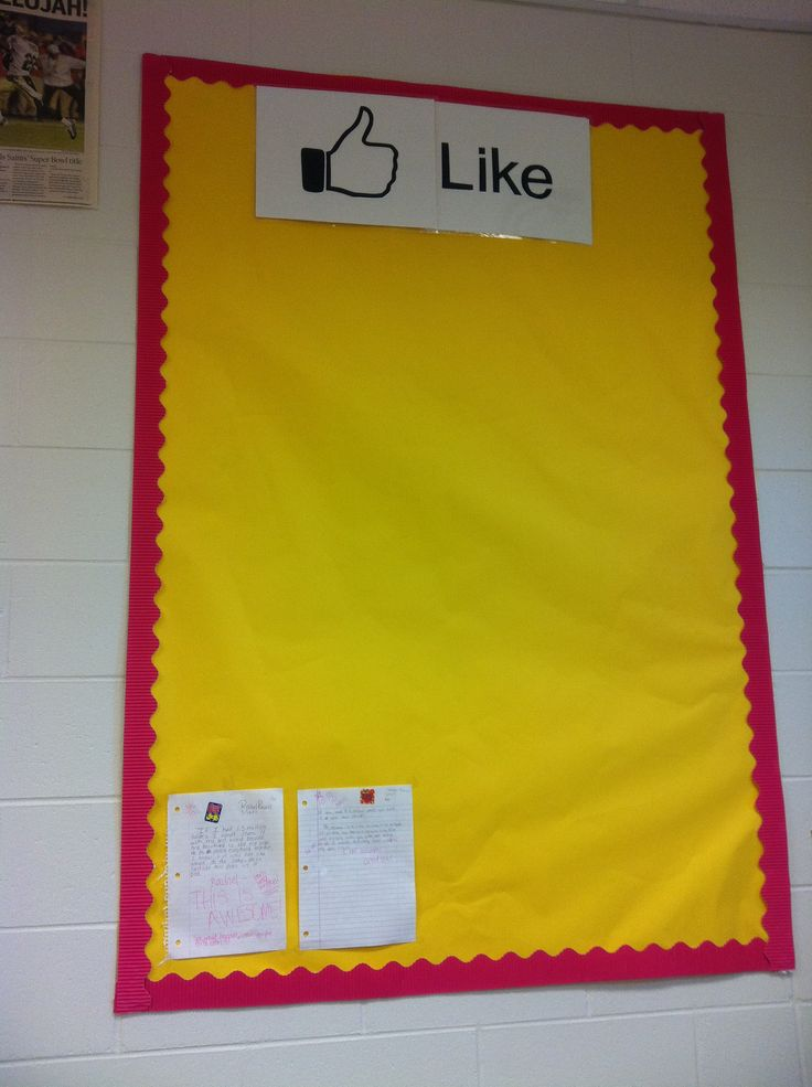 For student work I like....or...students can post things they like about other students..