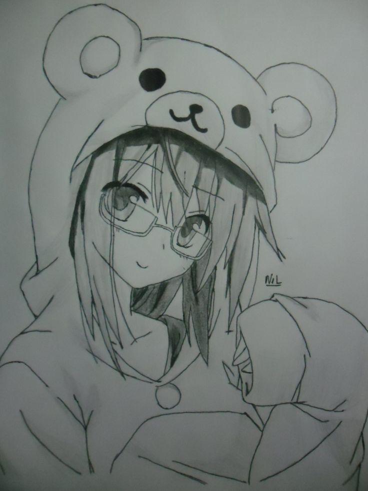 Animal Drawing  Girls Sketches  Anime Art  Anime Girls  Animal GirlsHow To Draw Anime Girl With Hoodie