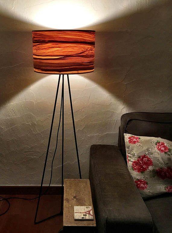 Wooden Floor Lamp Natural Wood Lamps Modern Veneer Lamps