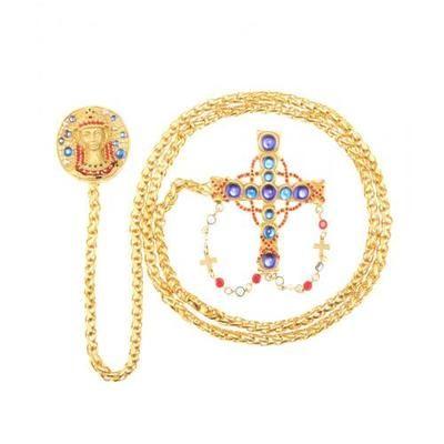 #covetmeLa DoubleJ - mytheresa.com exclusive embellished chatelaine pin by Ugo Correani for Gianni Versace #gianniversace #versace #designer #covetme #ladoublej