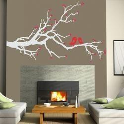 Ερωτευμένα πουλιά γκρι αυτοκόλλητο τοίχου ,18,40 €,http://www.stickit.gr/index.php?id_product=721&controller=product