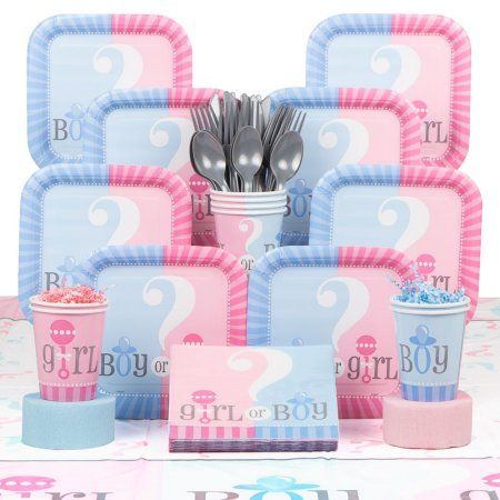 Gender Reveal Deluxe Kit (Serves 20) - Baby Shower Party Supplies