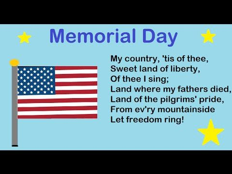 My Country 'Tis of Thee - Memorial Day Song for Kids - Mother and Daught...