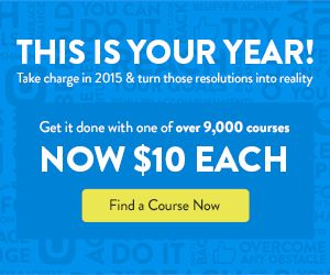 Take charge of your 2015 learning with 9,000 Udemy courses for $10 each! Ending in 3 Days! Post via @intercer