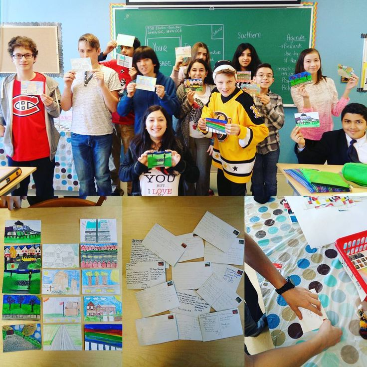 Secondary 1 students have been working very hard in their Art class creating unique postcards that feature their surrounds and landscapes. They are participating in an exchange with students in the remote northern town of Nemaska, QC. Students' postcards will be traveling over 1100km! Well done Sec 1! #NSA