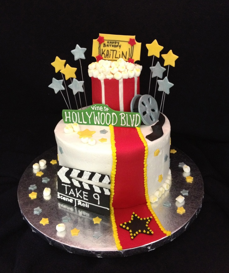 Movie Themed Birthday Cake My Cakes Pinterest