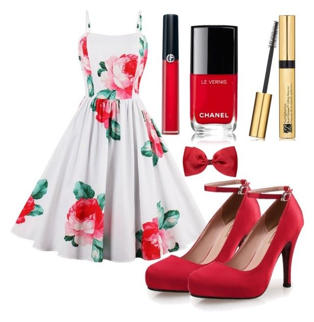 """""""Outfit #1532"""" by ivanna1920 ❤ liked on Polyvore featuring Armani Beauty, Chanel, Estée Lauder and George"""