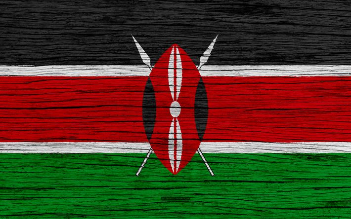 Download wallpapers Flag of Kenya, 4k, Africa, wooden texture, Kenyan flag, national symbols, Kenya flag, art, Kenya