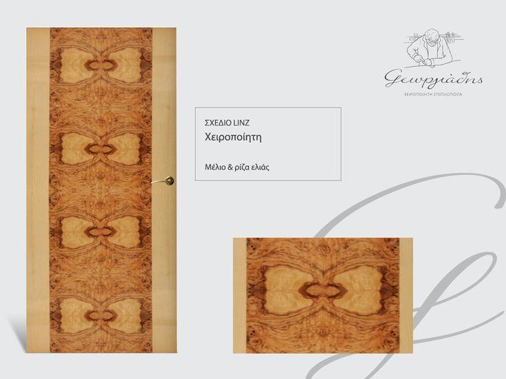 handmade wooden door_code: Linz / by Georgiadis furnitures #handmade #wooden #door #marqueterie
